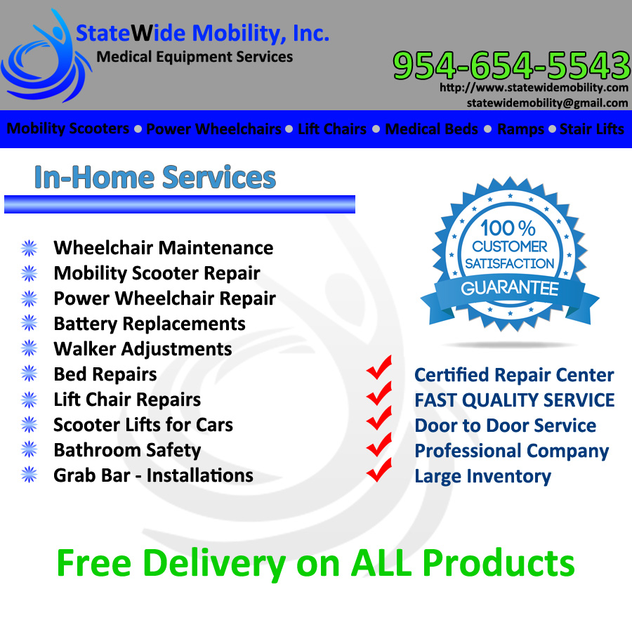 In-Home Services  sc 1 st  Electric Wheelchair u0026 Mobility Scooter Repair & Statewide Mobility - In Home Services - Scooter Repair Sales